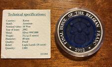 10 Won Atomium 2002 Lapis Lazuli Rare 1 Oz Argent 999