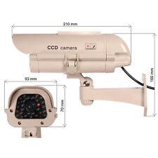 Cámara de Vigilancia Simulada Falsa con panel solar diodo IR sensor SOL1500