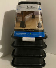 Bed Furniture Riser by Mainstays- Raises Bed 5.25 Inches, Black. Only 2 avail