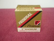 "Vintage FEDERAL Premium 3"" Magnum (lot of 2) Shot Shell Box Excellent Condition"