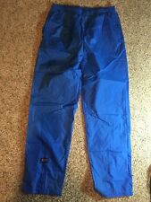 CB SPORTS Mens Pants Gym Track Running Waterproof 100% Nylon Blue Packable Kd1