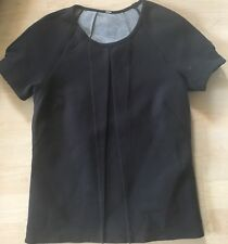 LULULEMON &go Keepsake Tee Shirt size 4 Black EUC Hip Length Relax Fit Scuba Run