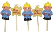 Builder Construction Happy Birthday Mini Toothpick Candles - set of 5