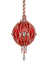 The Cracker Box Inc Christmas Ornament KitGypsy Fire on Red with Silver accents