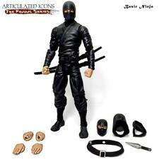 Articulated Icons Basic Ninja Black The Feudal Series Fwoosh Figure NEW