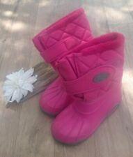 Girls Snow Winter Boots Size 1 (euro 33) fleece lined waterproof foot