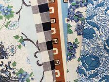 "New ListingBest 20 Vintage All Blue Feedsack Fabric Quilt 5 x 8"" Flour Sack Material 40s"