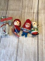 Vintage Raggedy Ann And Andy Tree Ornaments Christmas Elf And Christmas Lantern