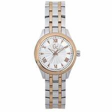 GUESS COLLECTION  Women Two Tone  SILVER ROSE GOLD White DiaL GC WATCH Y03002L1