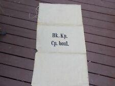 large NOS WWII 1943 grain flour wheat potato flax linen bag sack Swiss 52x28