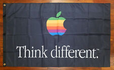 APPLE Personal Computers Advertising Flag Banner 3X5 Think Different Vintage Mac