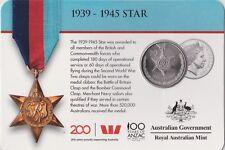 2017 Australian 1939-1945 Star 20 cent carded coin UNC