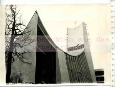 Stampa ORIGINALE FOTO: 1958 First Vatican padiglione on Brussels Worl Fair
