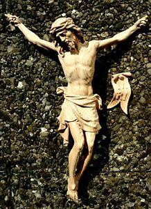 Feldkreuz Wegkreuz Corpus Christus Jesus Kruzifix Holz Kreuz Korpus