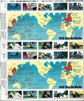 ORLEY US STAMPS # 2697 29¢ 1942 INTO THE BATTLE MINT SHEET/20  MNH/OG,