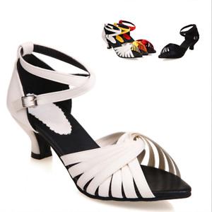 Women's Sexy Dace Slingback Shoes Kitten Mid Heels Ankle Strap Peep Toe Sandals