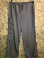 SB SCRUBS pants 967 Condor Grey medical dental vet elastic drawstring cargo S
