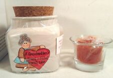 NEW GRANDMA VOTIVE JAR COUNTRY MESSAGE CANDLE HOLDER BY CRAZY MOUNTAIN / HENTON
