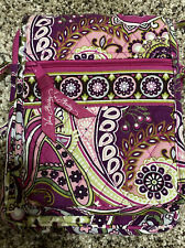 Vera Bradley Pink/Green Print Hipster Purse / Crossover/Small Satchel  PREOWNED