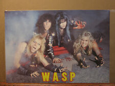 vintage 1984 W.A.S.P original rock band poster music artist 8420