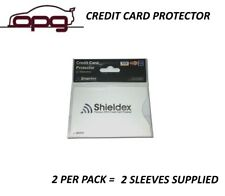 RFID Blocking Shieldex Credit Card Protector Sleeve Anti Theft Scan Safe X 2