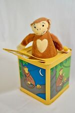 Jack in the Box - Monkey in the Box - Jack Rabbit Creations 2005 Yellow and Blue