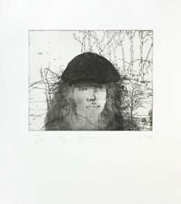 "Jim Dine ""SELF PORTRAIT IN A FLAT CAP"" Original Dry point Etching S/N"