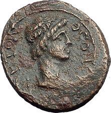 PERGAMON in Mysia 40AD Authentic Ancient Greek Coin ROMAN SENATE & ROMA i62708