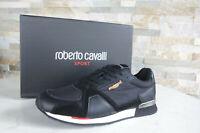 ROBERTO CAVALLI SPORT  45 Sneakers Schnürschuhe Schuhe schwarz NEU ehem UVP 339€