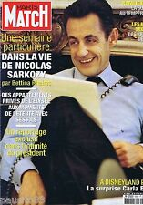 COUVERTURE de MAGAZINE,COVERAGE Match n°3057 20/12/07 Nicolas Sarkozy