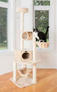 """72"""" Armarkat Multi Cat Tree Condo Bed House Perch Scratching Post Beige A7204"""