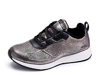 Women's Size 6 skechers Trainers Bobs Sport Pewter Metallic lace up trainers NEW