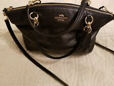 Coach Dark Navy Blue Leather Kelsey Madison Crossover style