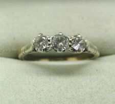 Multi-Tone Gold Three-Stone Fine Rings