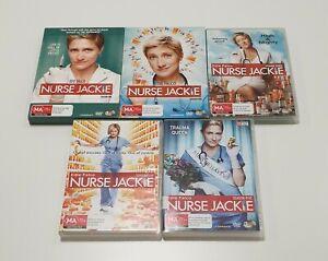NURSE JACKIE Seasons 1 2 3 4 5 I 14x DVD Disc Set Edie Falco Region 4 PAL