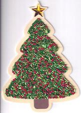 PAPYRUS CHRISTMAS CARD NIP MSRP $7.95 BEADED TREE CARD (H3)