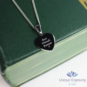 Personalised Photo / Text Engraved Mini Heart Pendant - Great Christmas Gift!