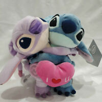 Disney Lilo & Stitch Angel Rare Lovers Limit Stuffed Plush Toy Valentine's Gift