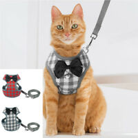 Escape Proof Cat Walking Jacket Harness Leash Puppy Dog Clothes Adjustable Vest