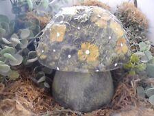 Plaster concrete plastic 2 piece flower mushroom mold