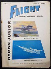 Vintage Flight Magazine, Aircraft, Spacecraft, Missiles- 5 February 1960