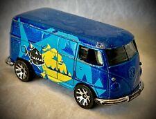 1999 Matchbox Volkswagen VW Delivery Van - Piranha Design - Blue Diecast