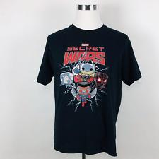 Marvel Funko Pop Tees SECRET WARS Graphic Tee Shirt Black Mens XL