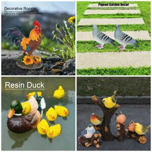 4pcs/set Lawn Garden Courtyard Resin Simulation Decoration Animal Ornament