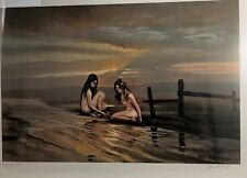 "VIOLET PARKHURST Women on Beach Naked Signed Numbered Litho 21"" x 15"""