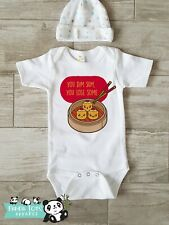 Funny Asian Baby Onesies - Dim Sum, Lose Sum - Baby Shower Gift Pregnancy