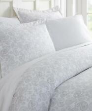 ienjoy Home Comfort 3 piece Duvet Cover Set Full/Queen Light Grey Paisley $72