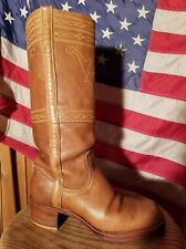 AWESOME VINTAGE FRYE CAMPUS STITCHING HORSE BOOTS SIZE 8.5 BLACK LABEL HOT!!!