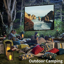 16:9 Foldable Projector Screen HD Home Theater Outdoor Camping 3D Movie