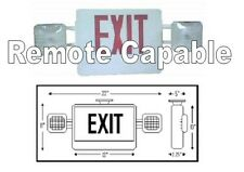 Monarch MON-COM-R-RC Combo Emergency Exit Light Sign Red LED Remote Capable UL